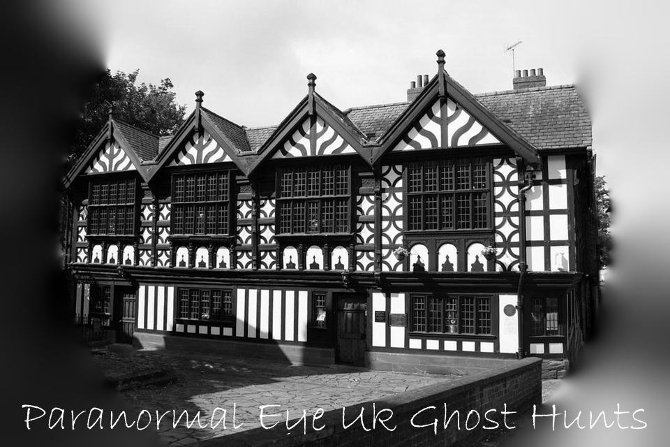 Stanley Palace is a stunning 16th Century Tudor building is said to be one of the most haunted locations in Chester,  built in 1591 over the former Black Frairy, There has been many reports of Ghostly sightings (many believe this is the daughter (Elizabeth) of Sir Peter Warburton) Over the many years there has been numerous reports of unexplained happenings and activity. The sound of doors have been heard opening when nobody is present. Strange unexplained sweet perfume smells appear from nowhere, loud thuds, drastic temperature changes and many people witness a strange presence on the main staircase. These are just some of the strange happenings here dare you join the Paranormal Eye Team as we unlock Stanley Palace and invite you to delve into the unknown secrets of this building.